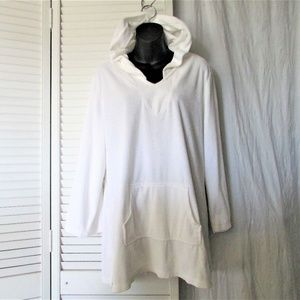 Talbots white terry cloth bathing suit coverup XL